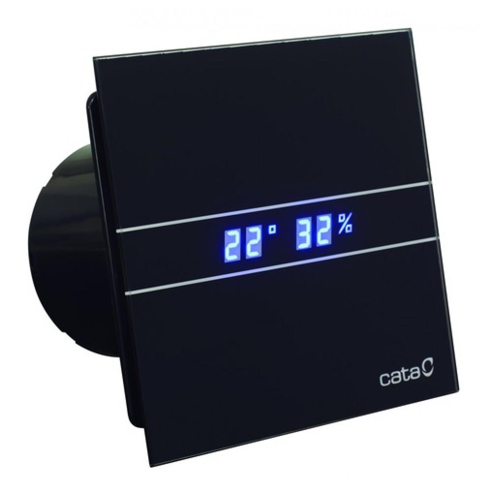 Вытяжной вентилятор Cata E100 GTH BK Hygro