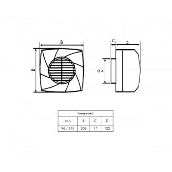 Вытяжной вентилятор Cata CB-250 Plus
