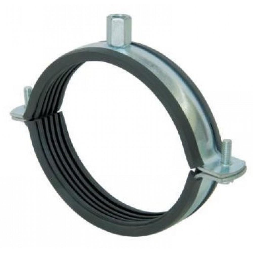 Хомут для монтажа круглых стальных воздуховодов (с уплотнительной резинкой) D=100 мм