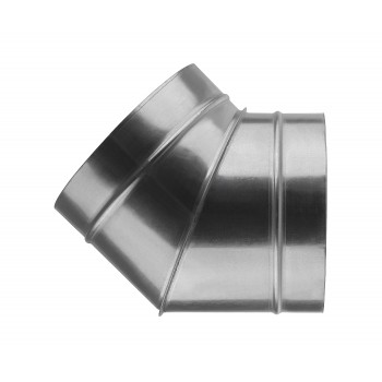 Отвод для круглых воздуховодов оцинкованный d100 мм на 45°