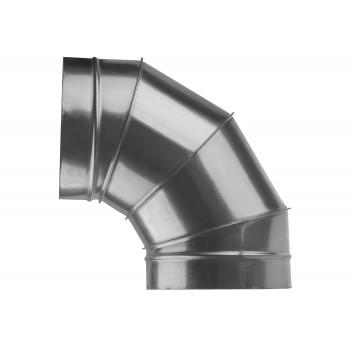 Отвод для круглых воздуховодов оцинкованный d200 мм на 90°